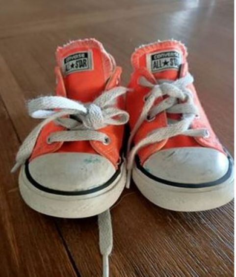 """Andy – """"These are my favourite shoes because my cousin Mabel gave them to me and I can run really fast in them""""."""