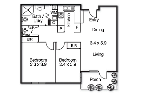 HS RL App 32 Floorplan TN