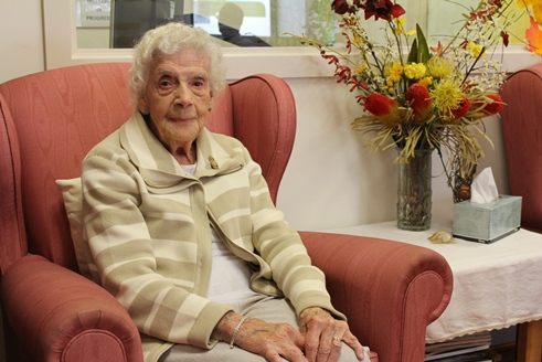 Jean Griff at our Brindabilla Day Centre, who served in the Women's Auxiliary Air Force (WAAF) during WWII