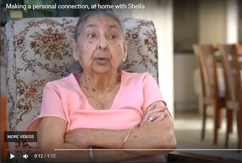 Sheila talks about her home care package