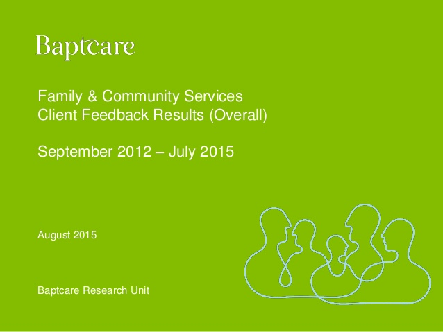 Baptcare Family and Community Services client feedback